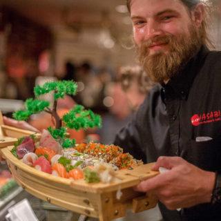 Wasabi Asheville sushi boat